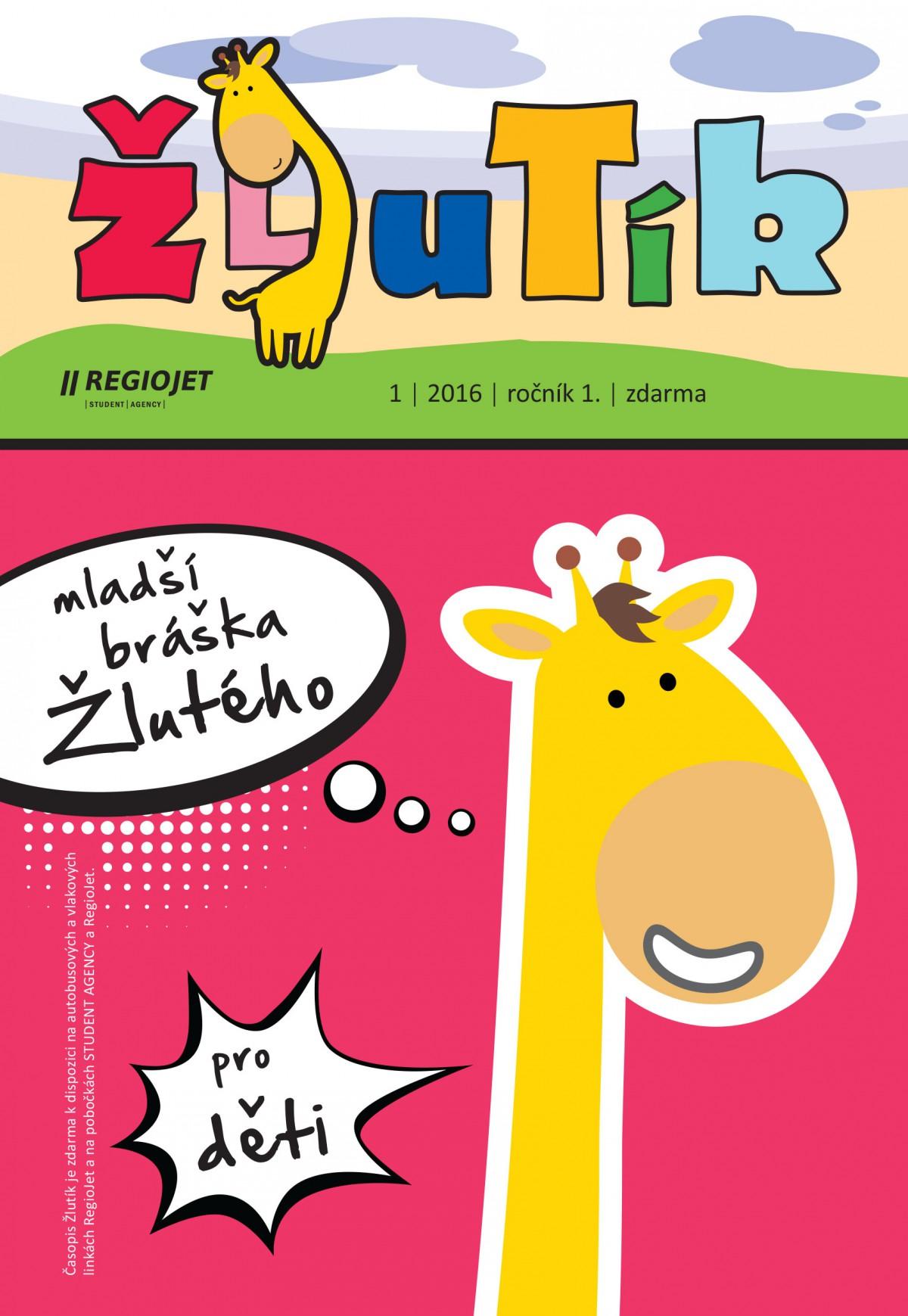 RegioJet přichystal první vydání časopisu pro děti Žlutík