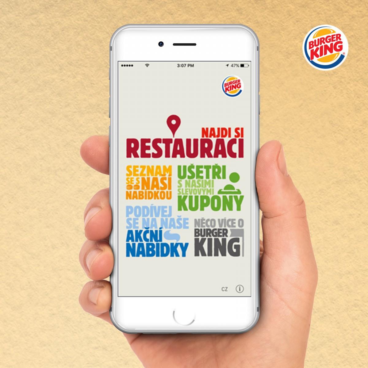 Burger King spustil v Čechách novou mobilní aplikaci, stejnou mají třeba Španělé