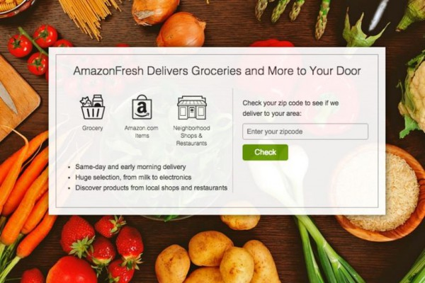 Webové stránky služby AmazonFresh