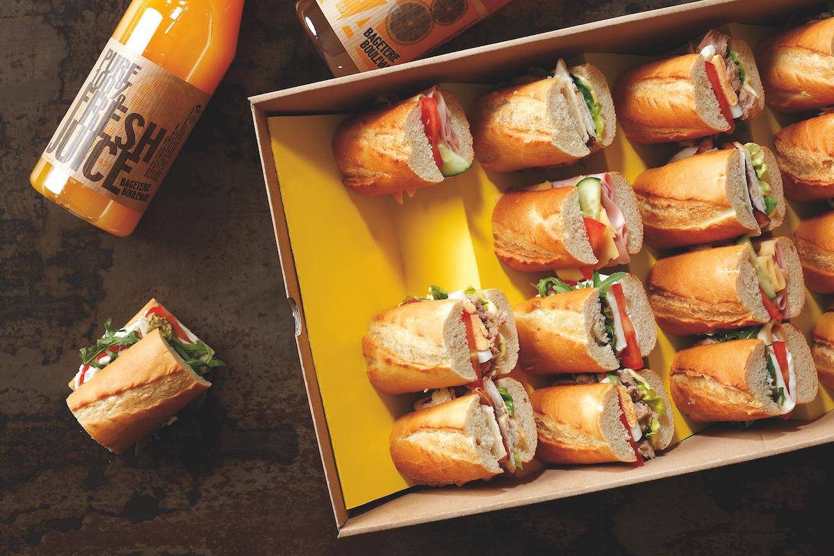 Výsledná podoba Bageterie Boulvard Boxu, který se do firem dováží