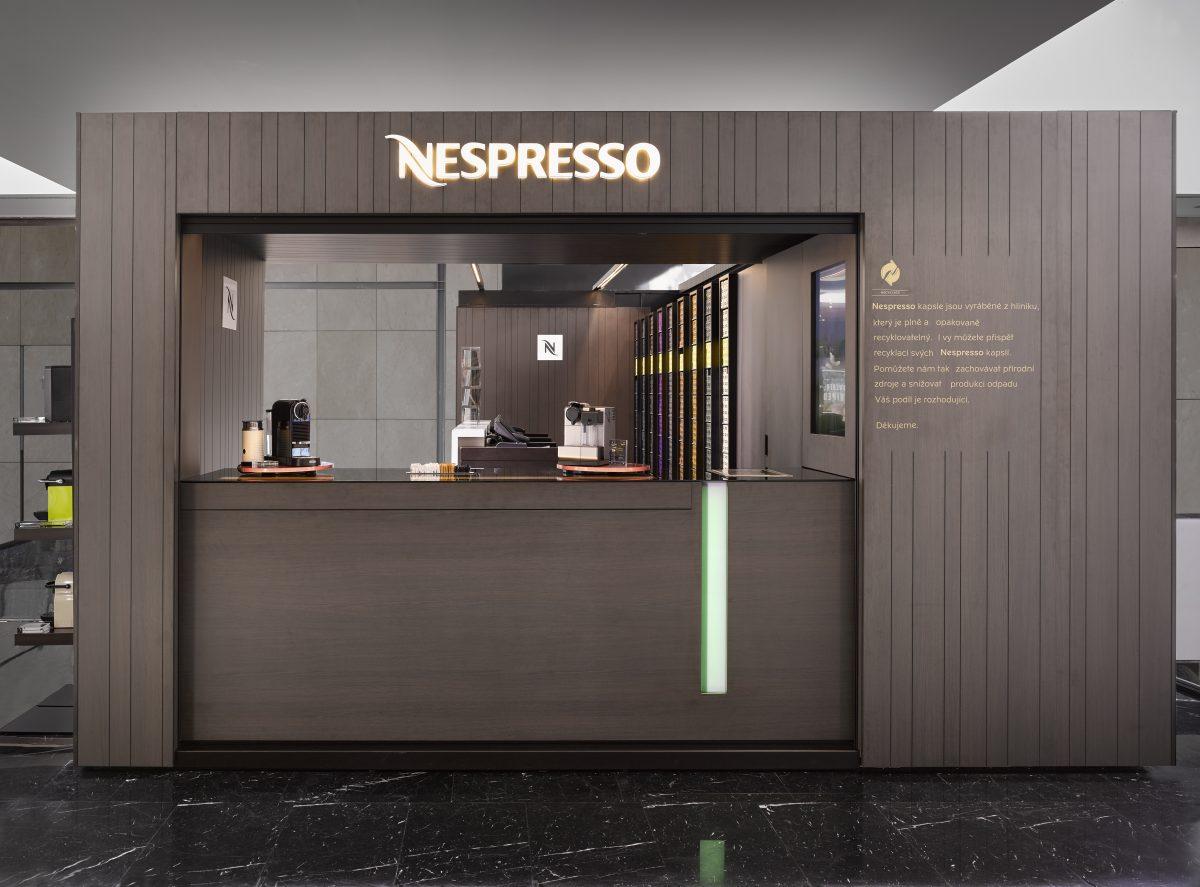 Pop-up store Nespressa na pražském Chodově