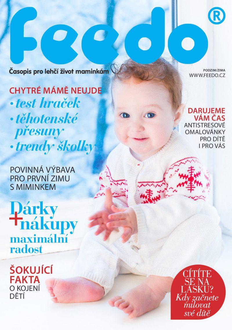 Titulní strana nového časopisu Feedo