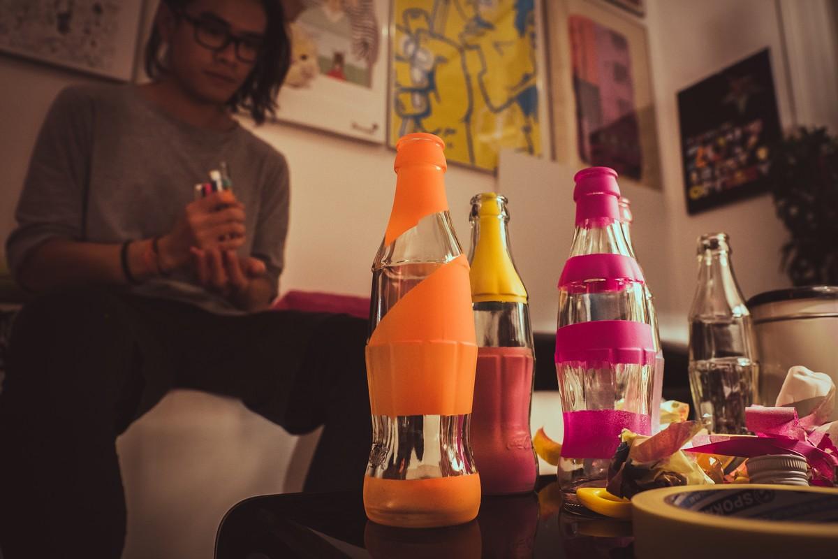 Design lahví tak, jak jej vytvořili profesionální ilustrátoři
