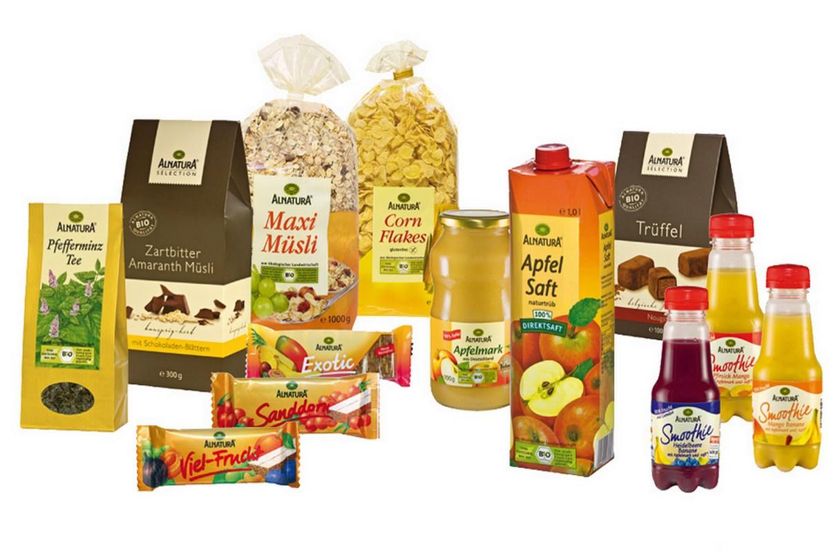 Produkty Alnatura, které nyní v Bille nabízejí