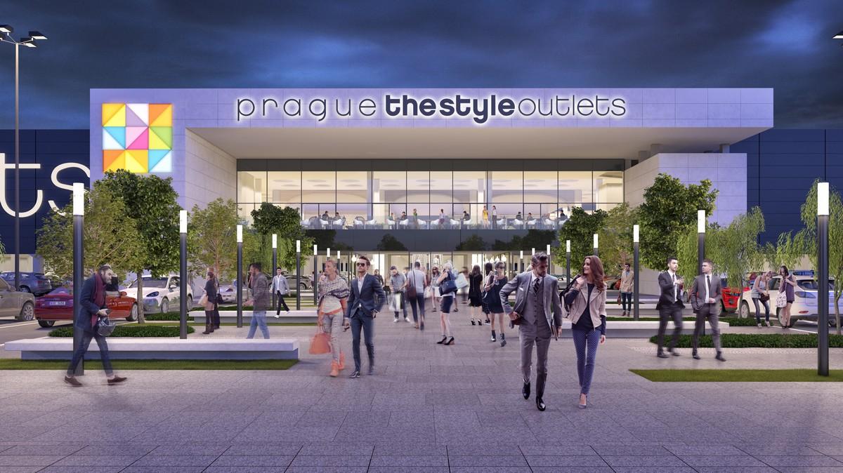 Vizualizace outletového centra Prague The Style Outlets