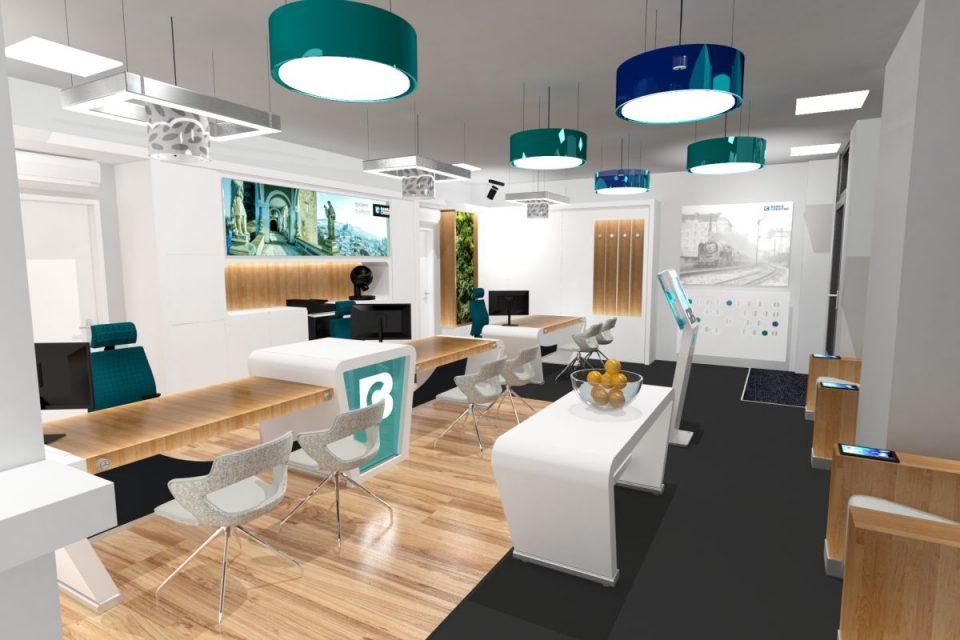 Spořitelní záložna se změní na Banku Creditas, pobočky předělal Moris Design