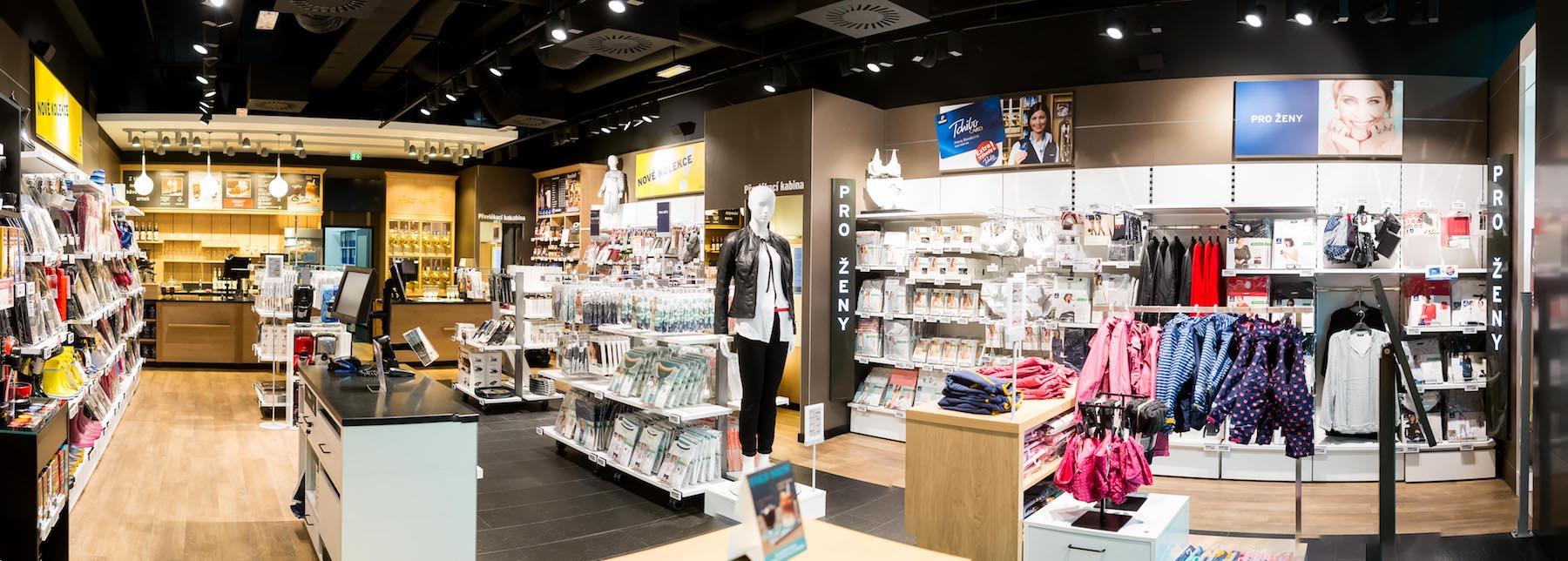Prodejna Tchibo na Zličíně doplněná o interaktivní prvky