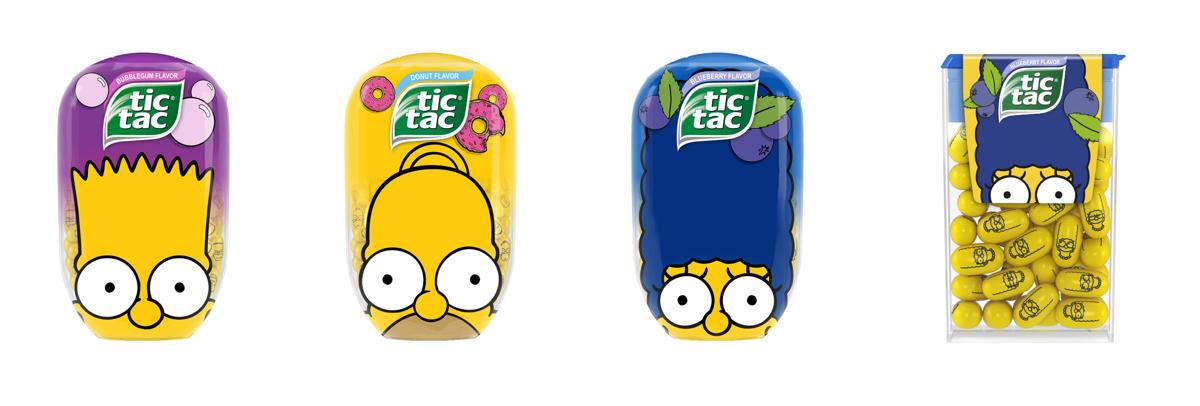 Simpsonovi na bonbónech Tic Tac