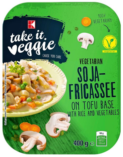 Řada K-take it veggie zahrnuje například sójové frikassee