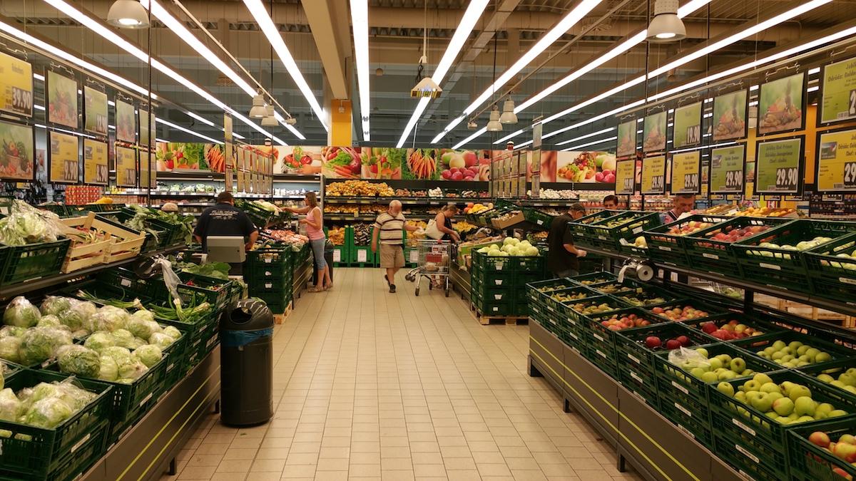 Oddělení zeleniny před rekonstrukcí