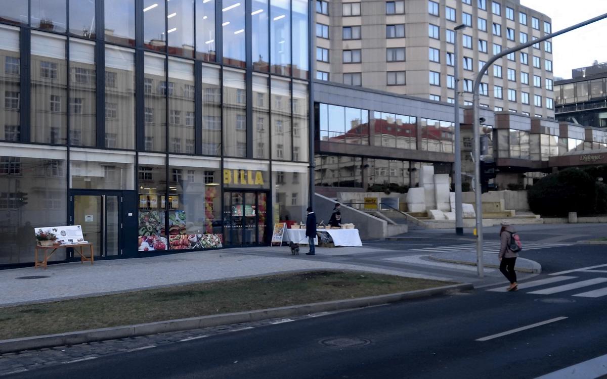 Nová prodejna Billy na Evropské, vedle hotelu Diplomat