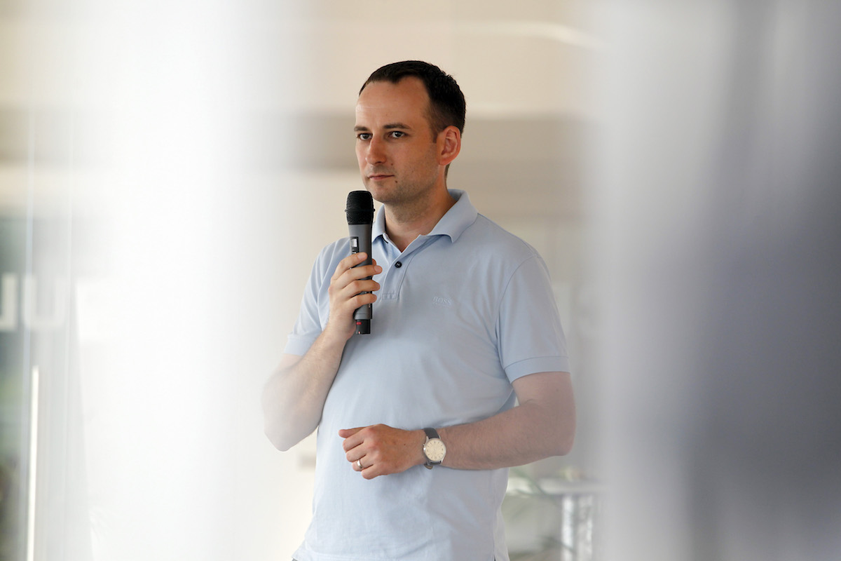 Michal Bilka před létem 2015 na setkání AppParade Meet, které pořádal Médiář. Foto Jiří Koťátko