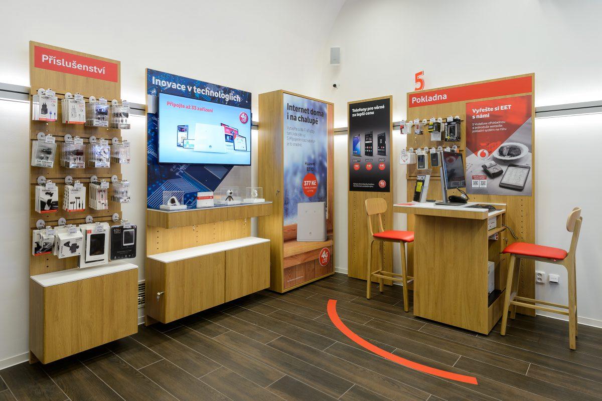 Nová prodejna Vodafone na pražském Václavském náměstí