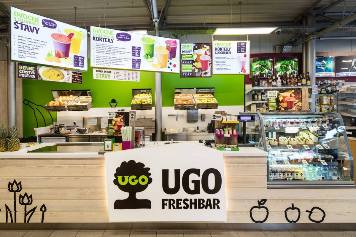 Síť Ugo má první bar na benzínové pumpě