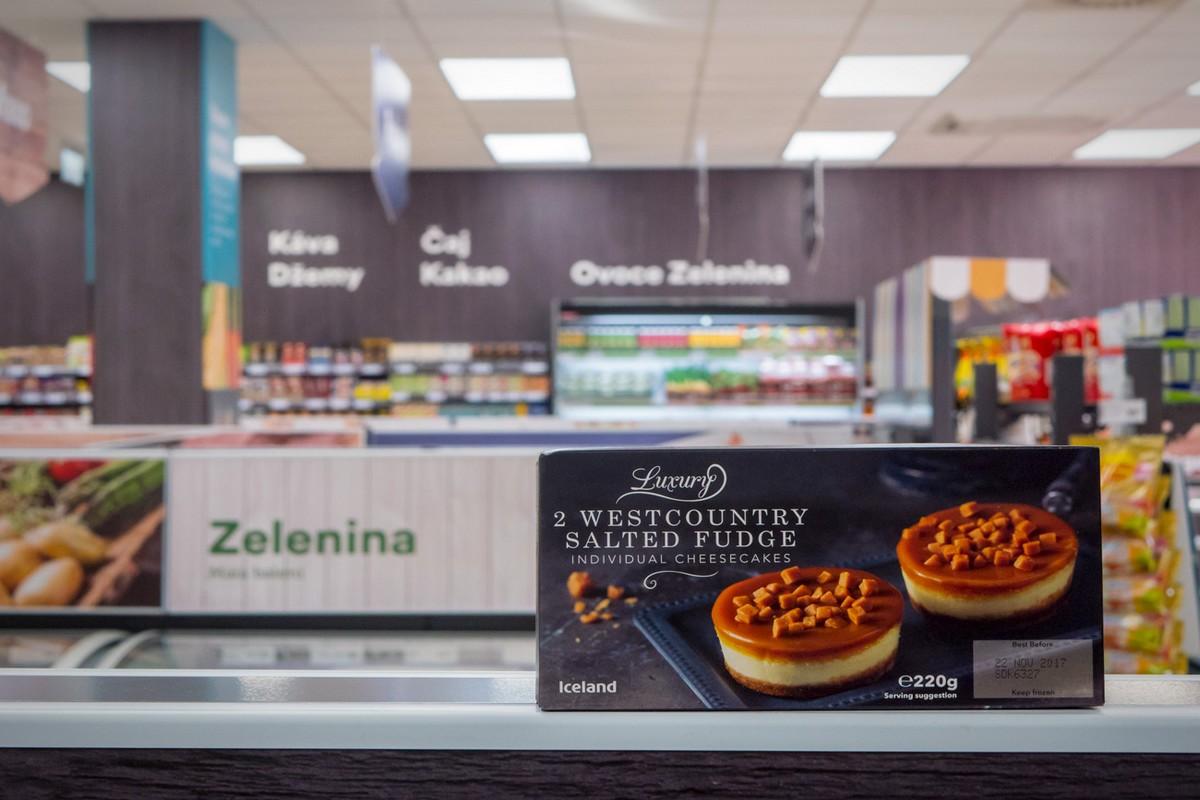 V Česku se Iceland profiluje zejména jako prodejce mraženého britského zboží