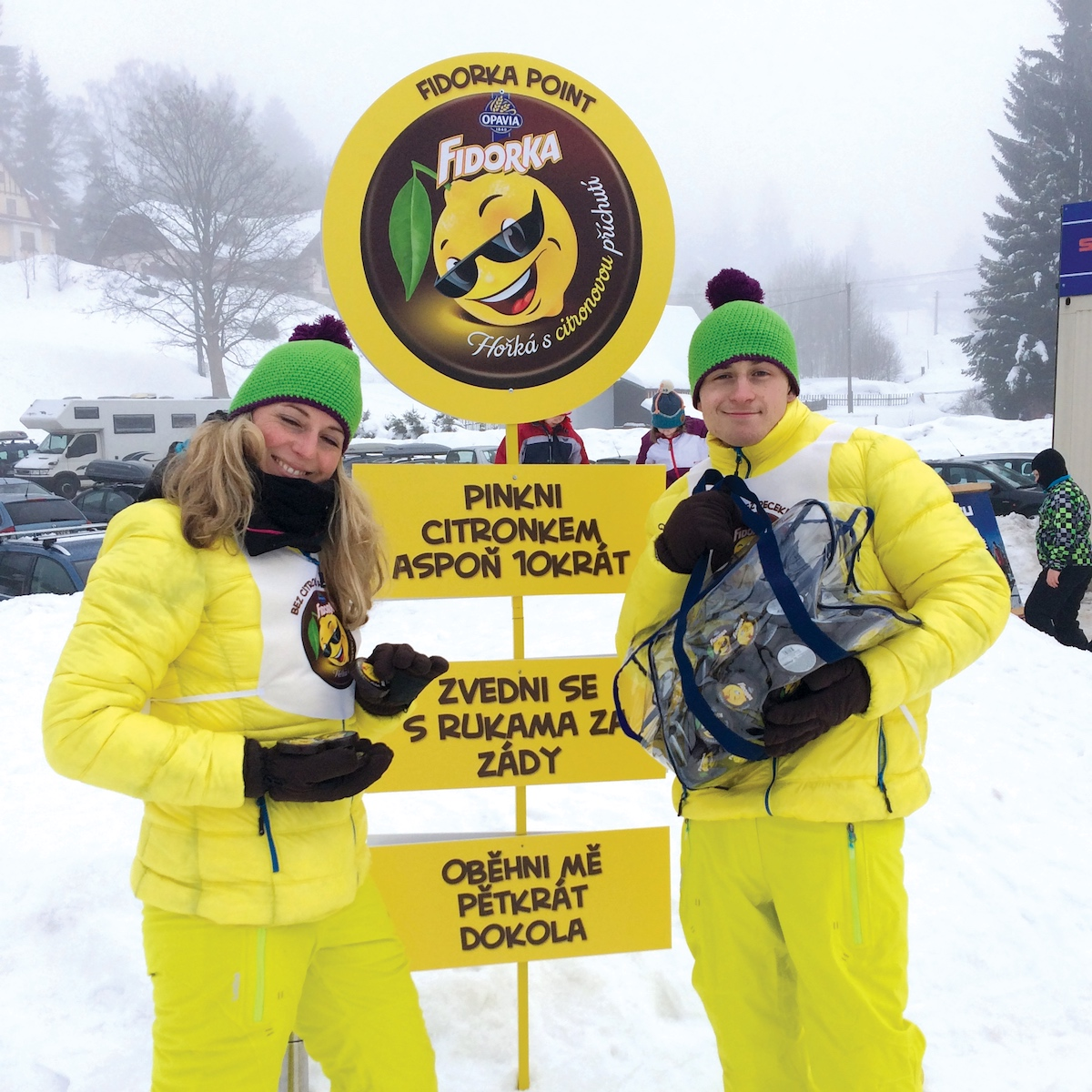 Citronovou fidorku získají návštěvníci středisek za fyzické úkony