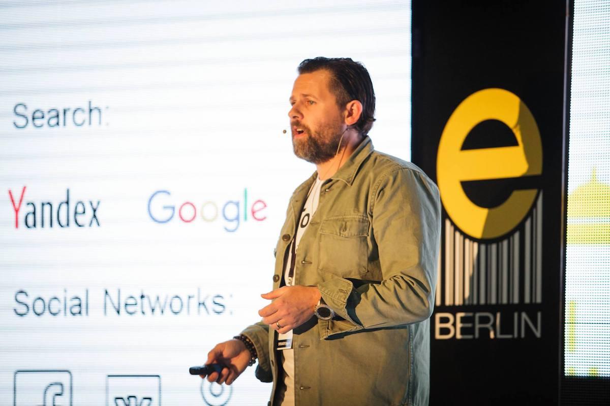 Dominik Johnson z Yandexu. Foto: E-commerce Expo Berlin