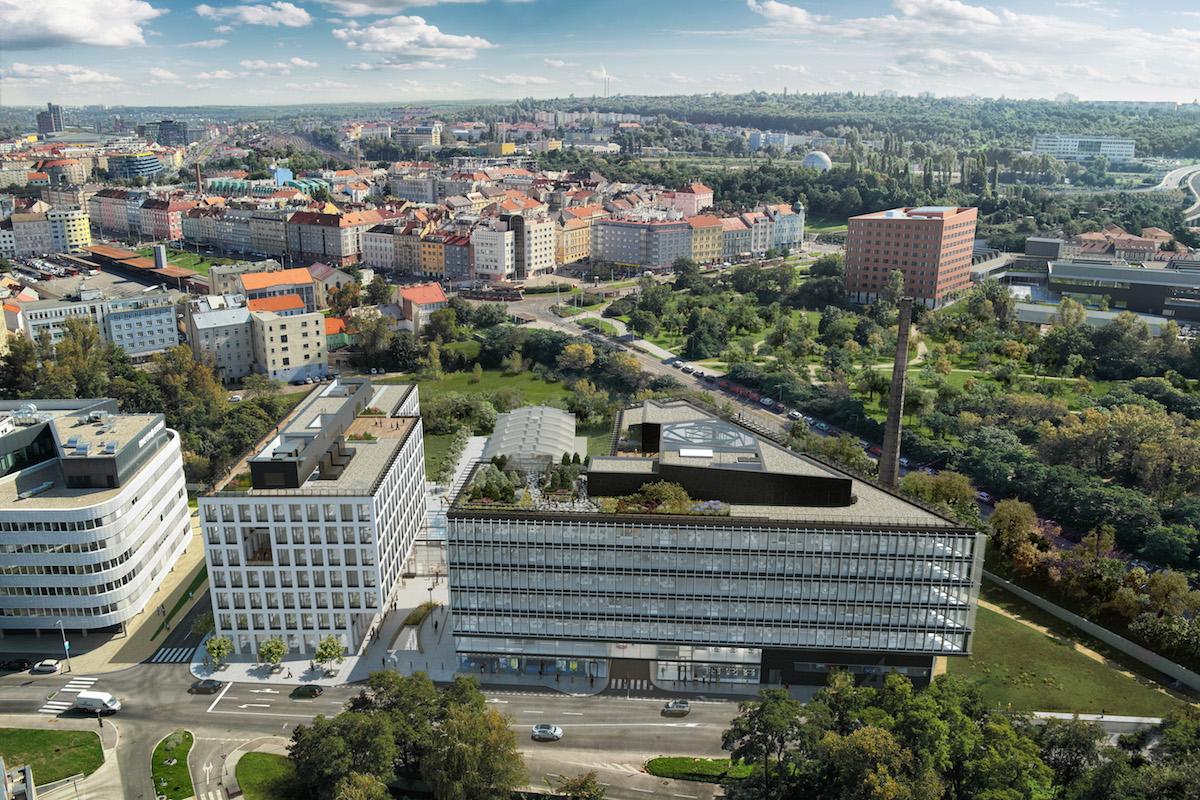 Palmovka Open Park. Zdroj: Metrostav Development