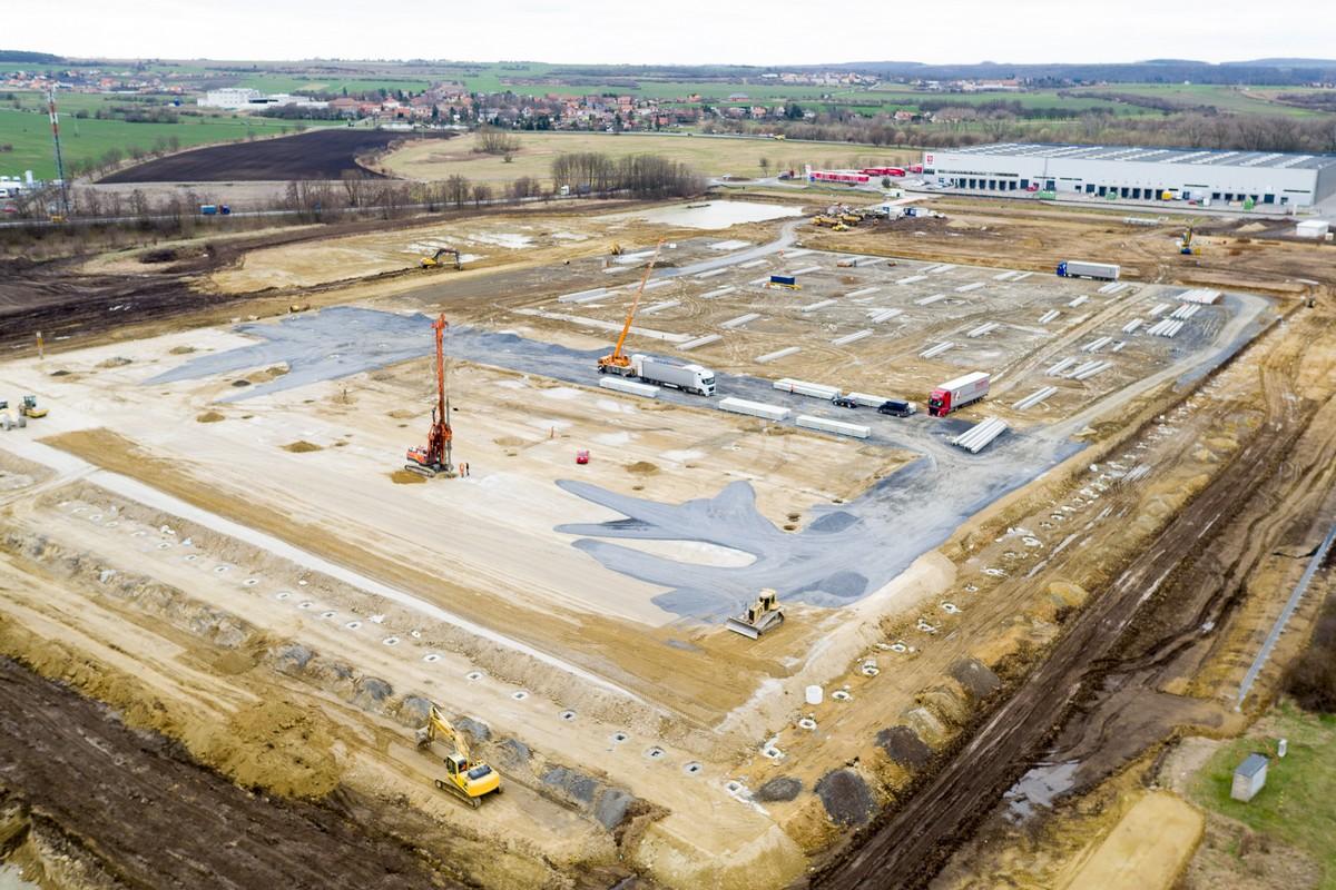 Výstavba distribučního centra