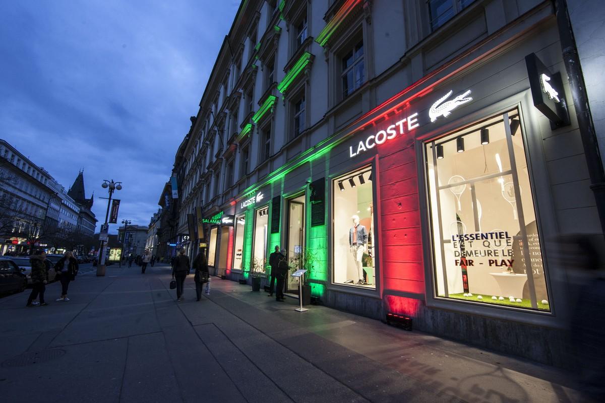 Obchod Lacoste v ulici Na Příkopě