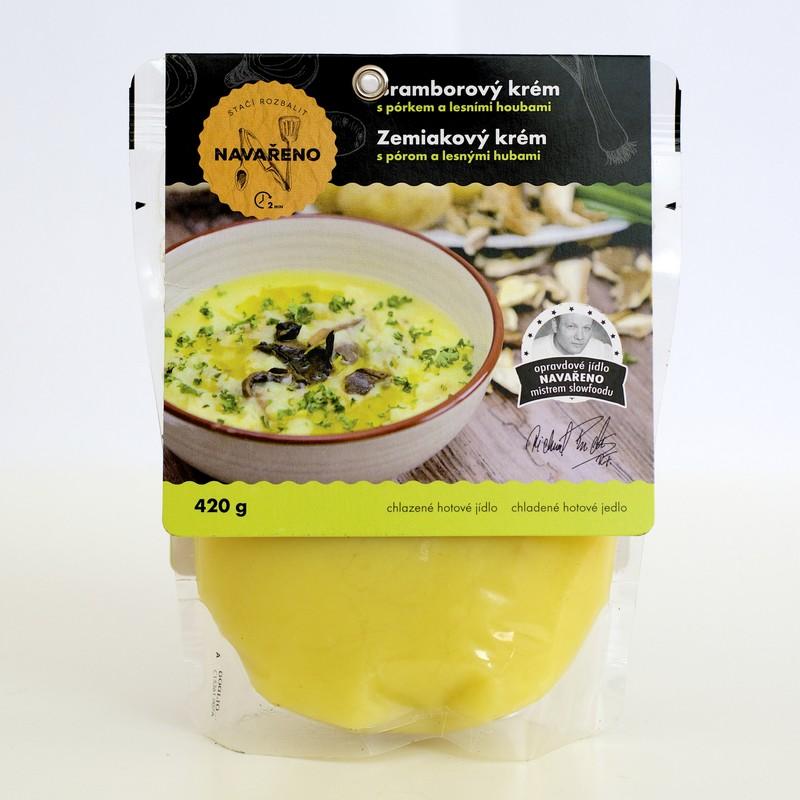 Houbová polévka z Navařeno (od 53,90 Kč za  2 porce)