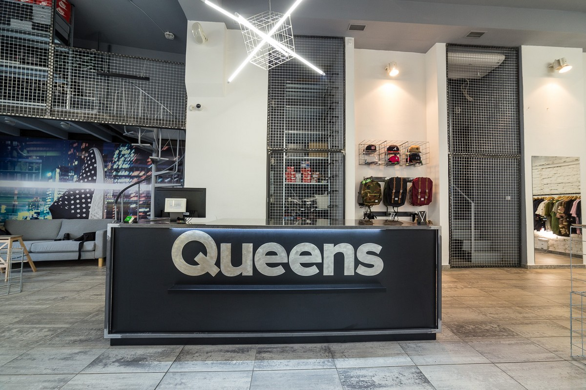 Interiér nové prodejny Queens