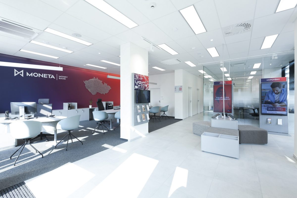 Nový design butovické pobočky Moneta Money Bank