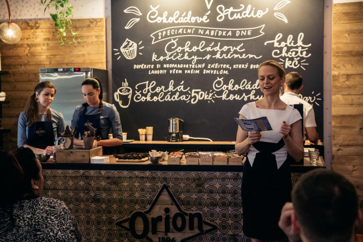 Interiér čokoládového studio Orion
