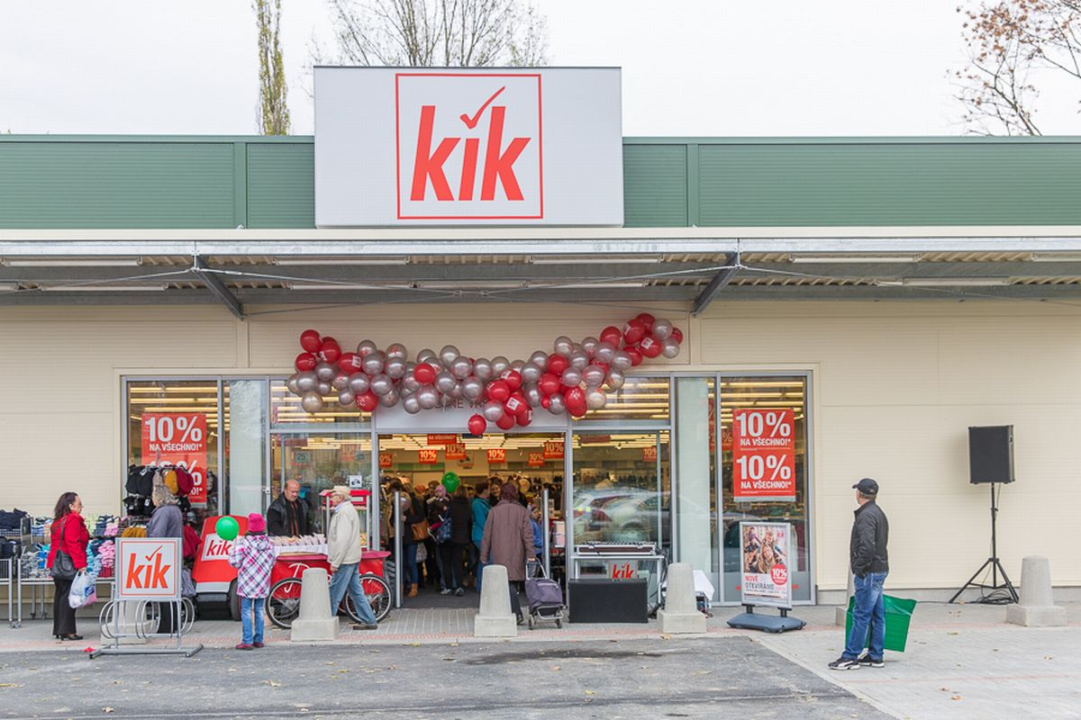 Prodejna Kik po rekonstrukci
