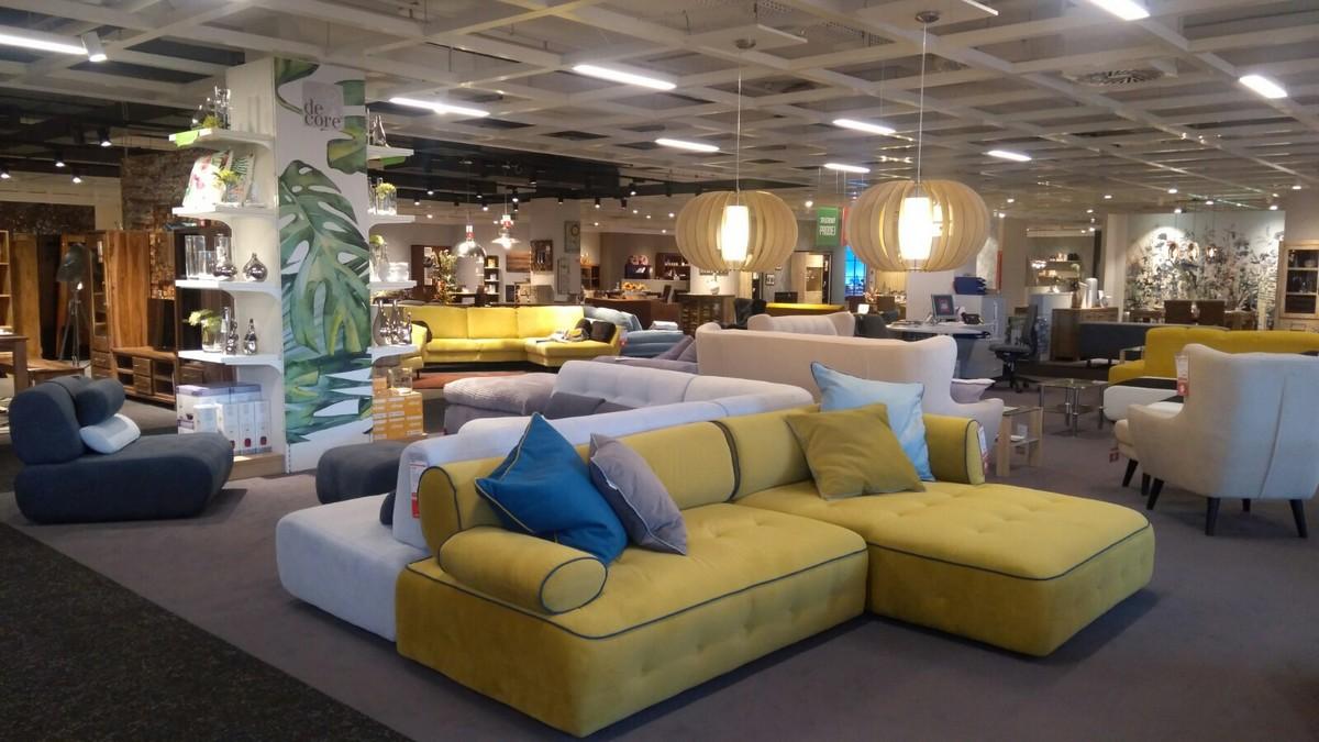 Interiér nové prodejny Kika v Letňanech