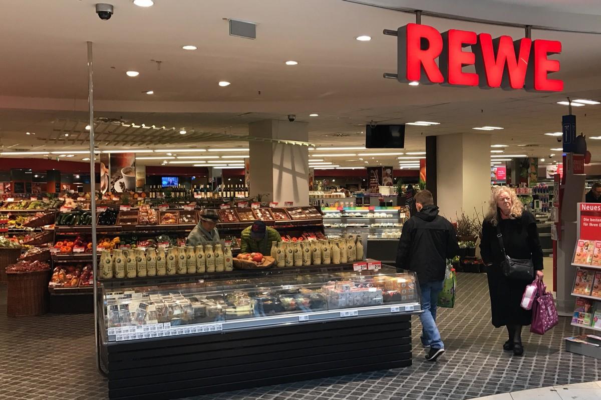 Interiér prodejny Rewe