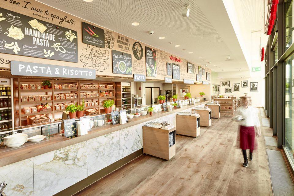 Quadrio v září otvírá nový food court. Bude v něm italské, indické i veganské bistro