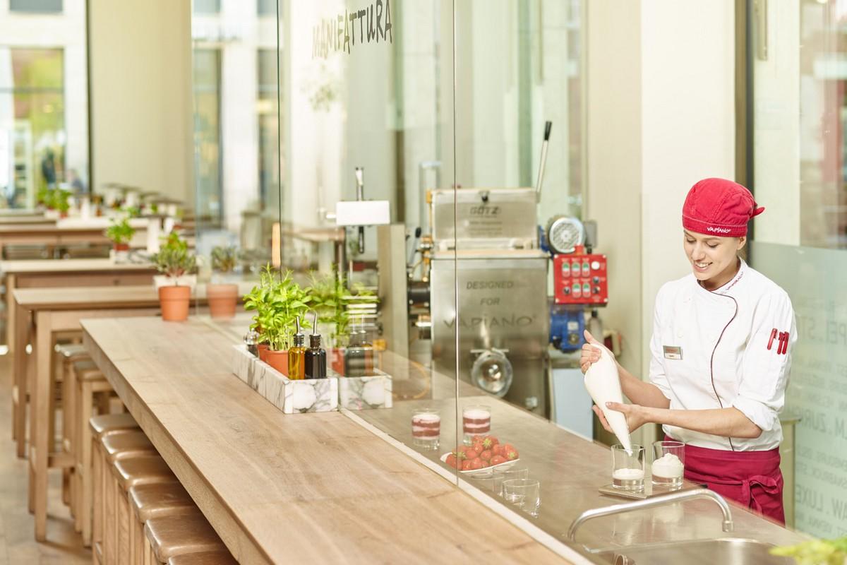 Způsob přípravy jídla v restauracích Vapiano