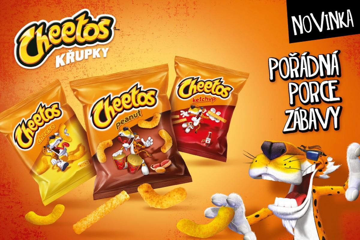 Tři nové druhy Cheetos se objeví od června v Česku