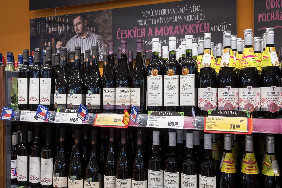 Nabídka vín v Penny Marketu