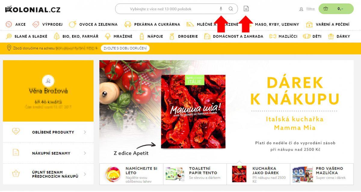 Kolonial.cz na stránkách nabízí novou službu hlasové asistence nakupování