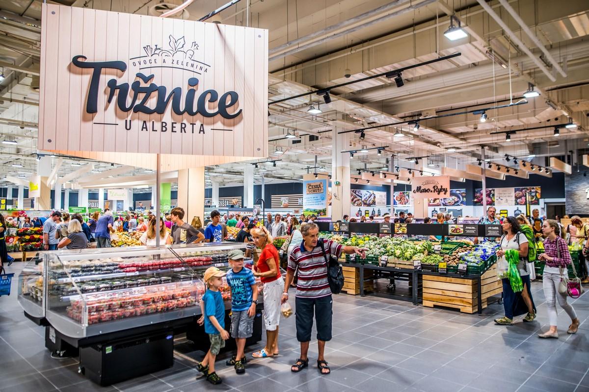 Tržnice u Alberta má být srdcem nové prodejny
