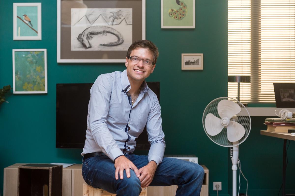 Michal Kroupa, manažer externí komunikace Ikea pro Česko, Slovensko a Maďarsko v kulisách nového spotu. Foto: Vojta Herout