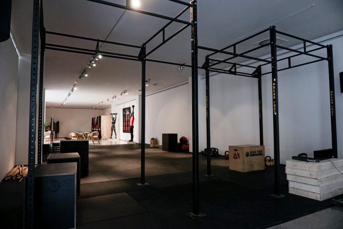 Jeden z cvičebních prostorů v Mánesu