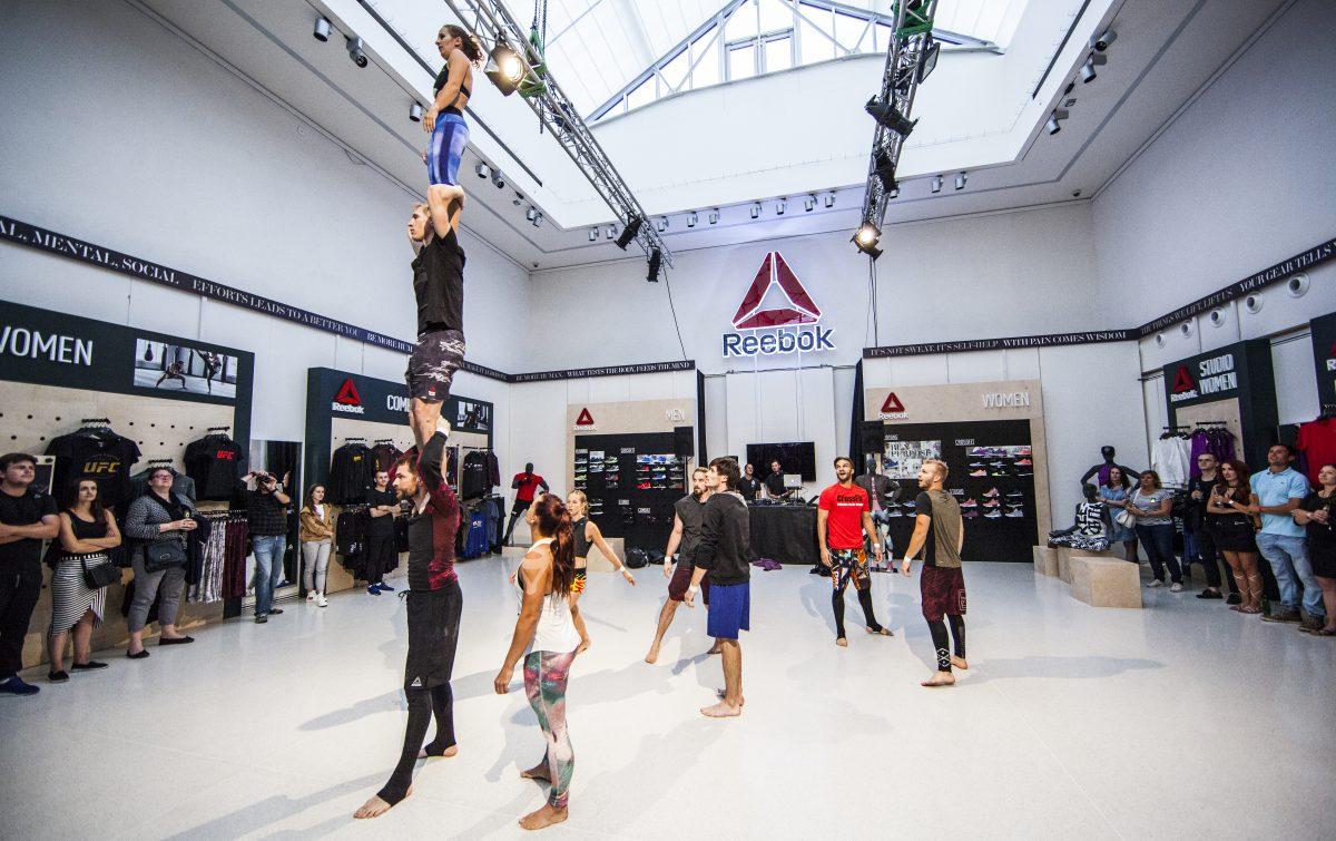 Prostor Reebok Experience Store v Mánesu