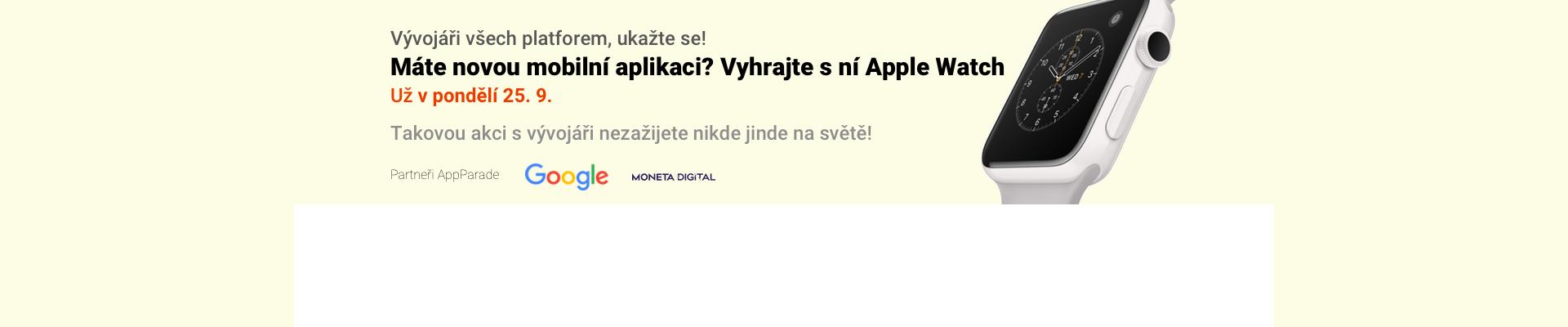 Přihlaste se do soutěžní přehlídky mobilních aplikací AppParade