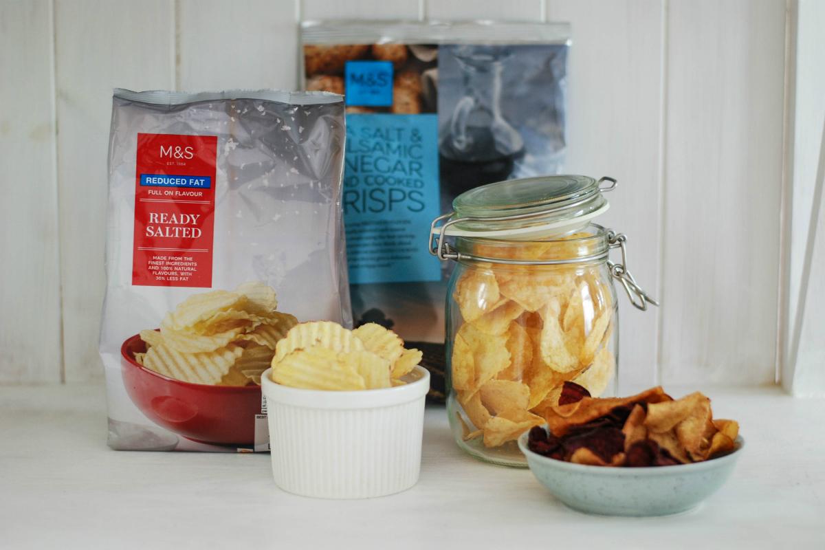 Dalším oblíbeným produktem Marks & Spencer jsou chipsy