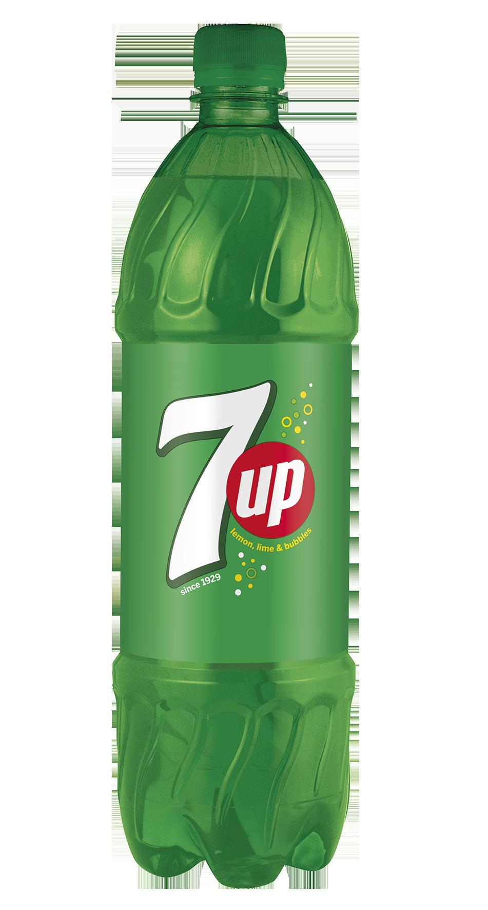 Litrová lahev limonády 7up
