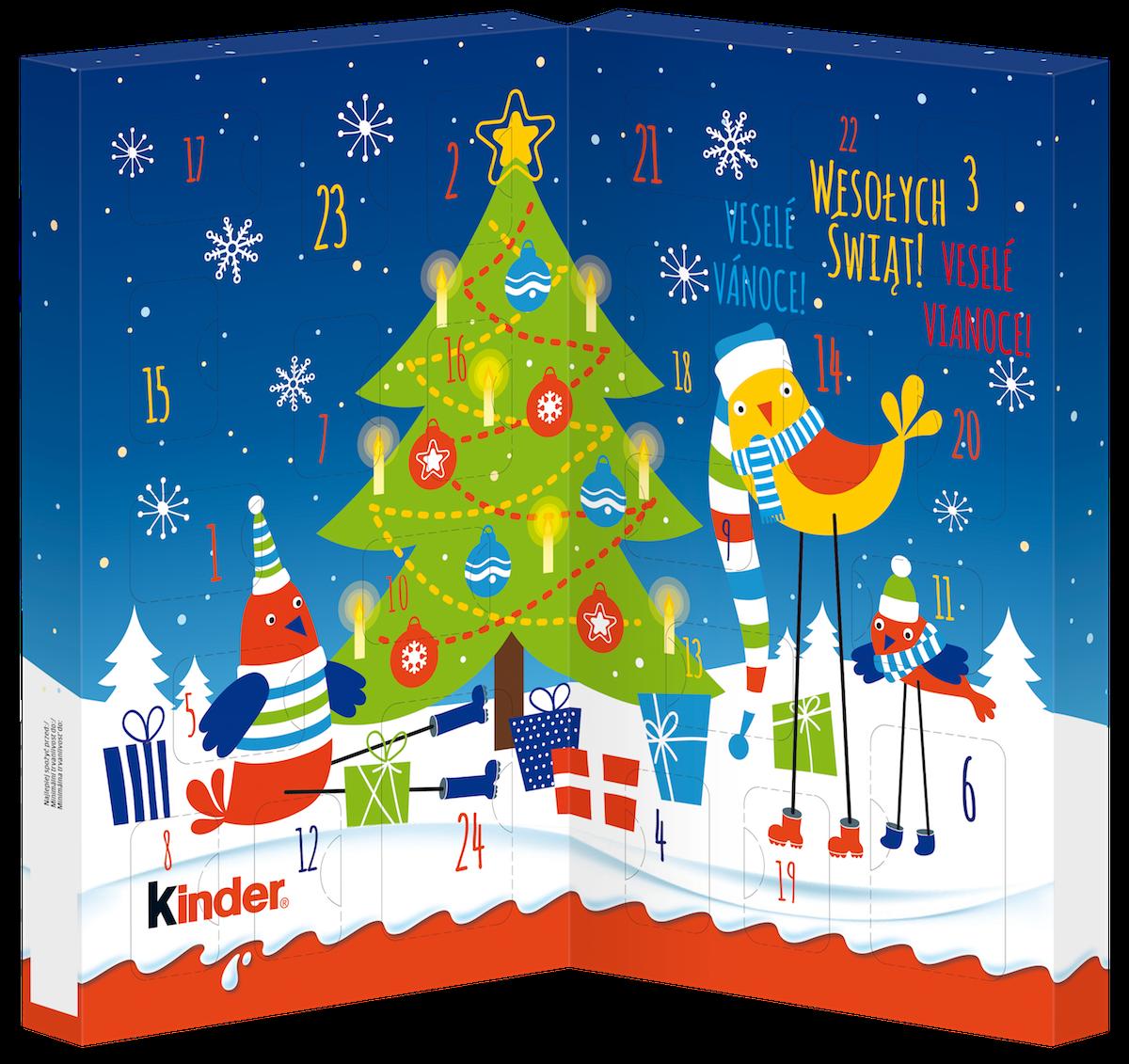 Adventní kalendář Kinder