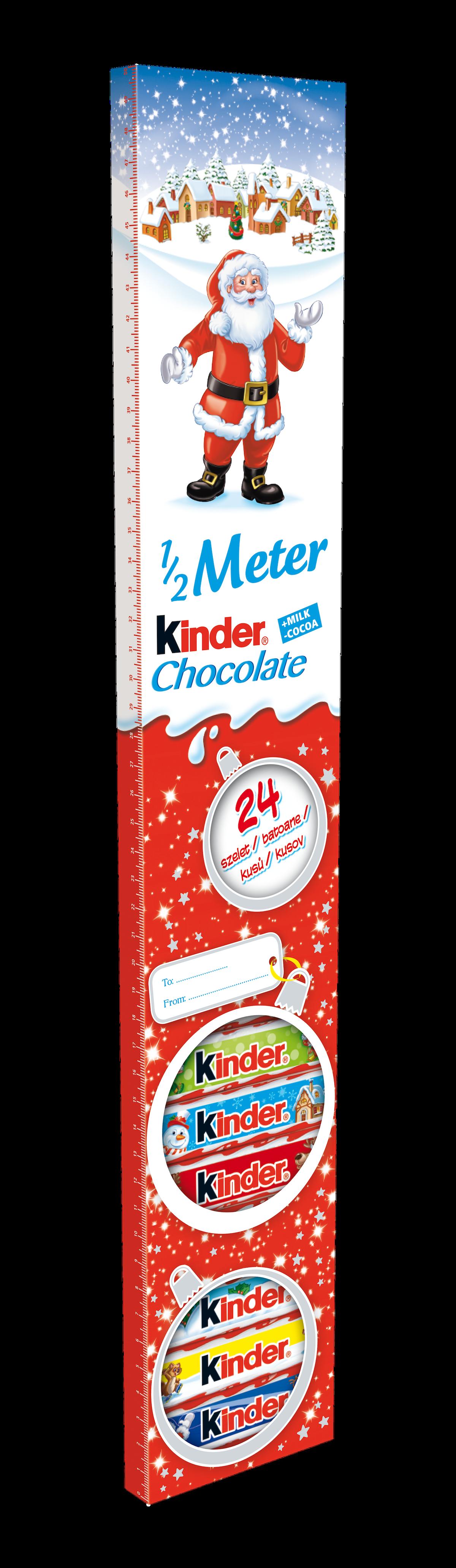 Půlmetrová čokoláda Kinder