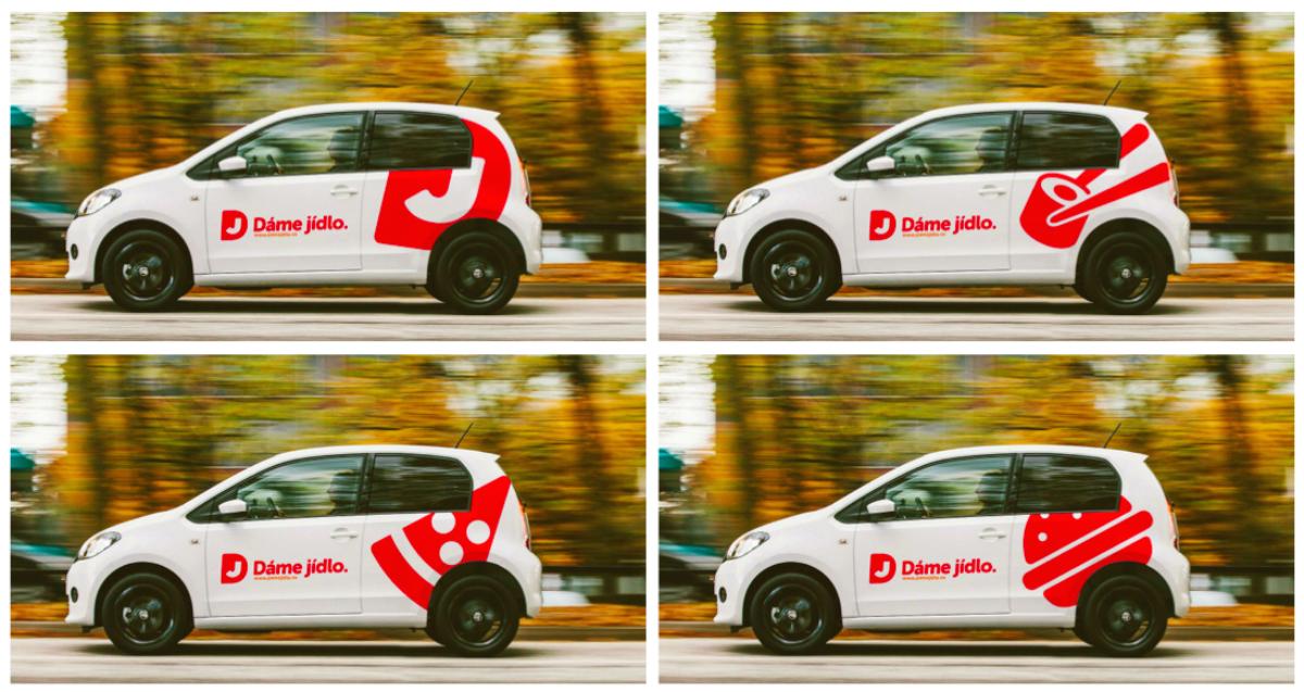 Kromě vlastních vozů s novými polepy bude Dáme Jídlo rozvážet nově i Gibon Delivery