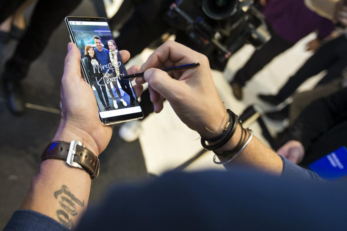 Nejnovější model Samsung Note8 a jeho ambasador Leoš Mareš