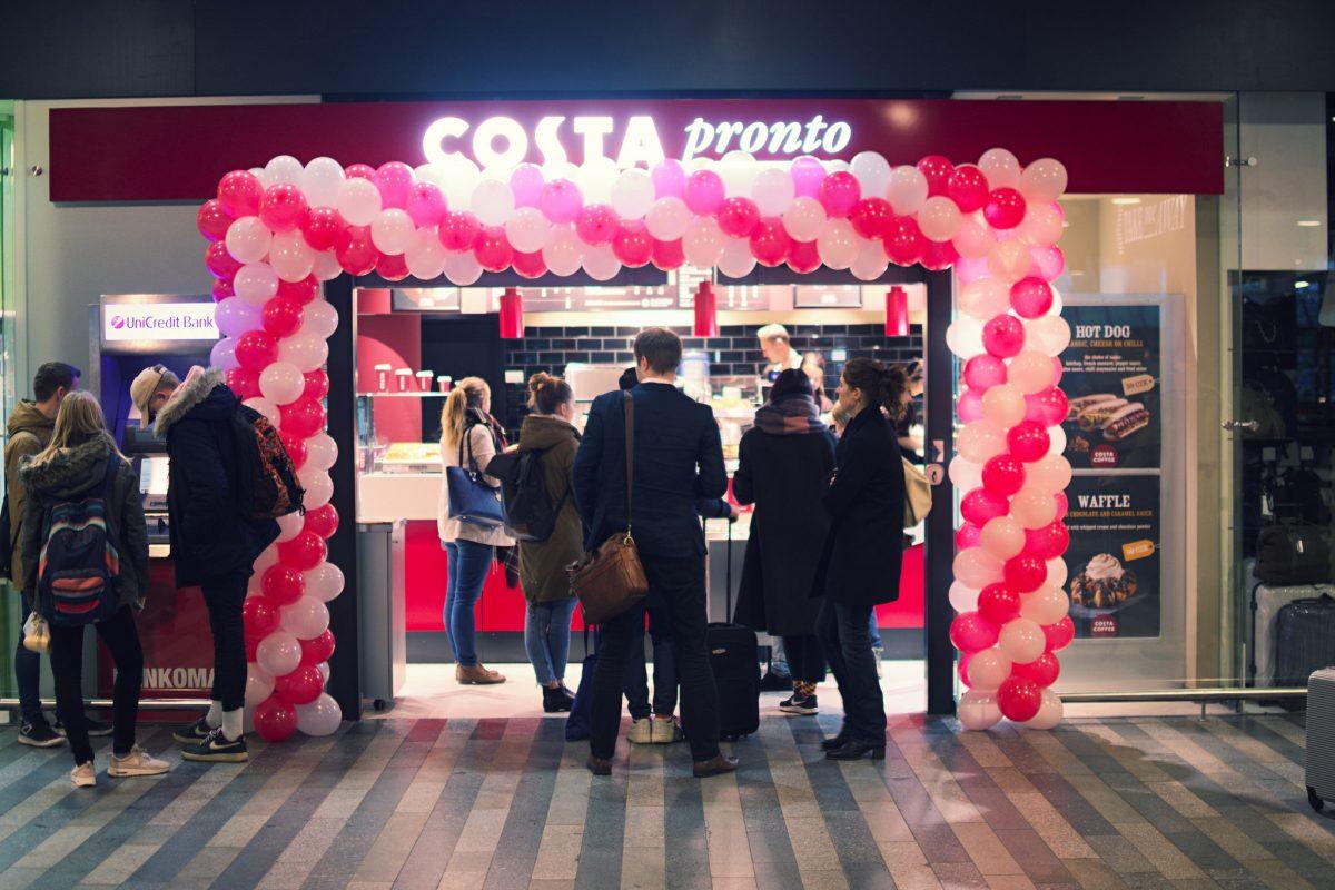 Nový koncept Costa Pronto na Hlavním nádraží
