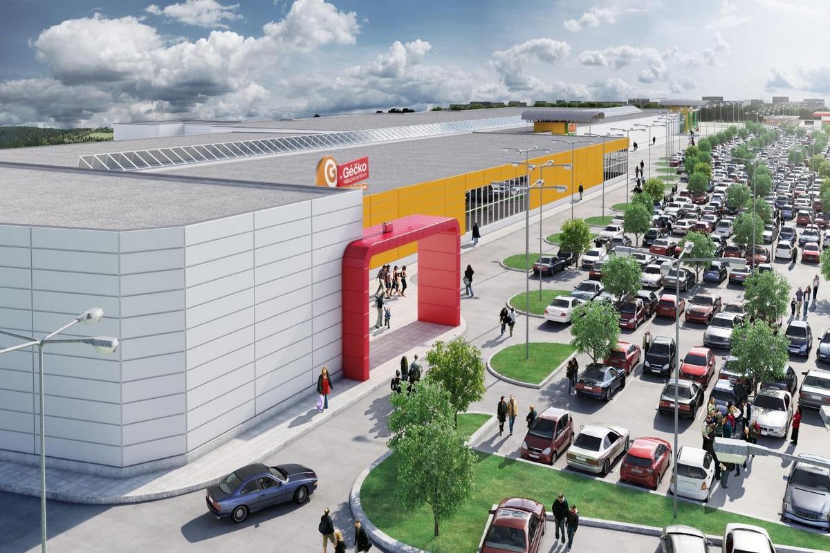 Géčko Ostrava bude příští rok jediným dokončeným obchodním centrem