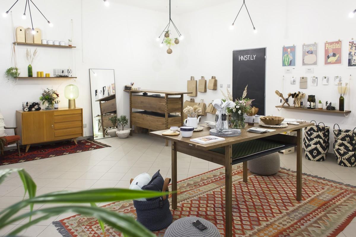 Interiér prodejny Hnst.ly